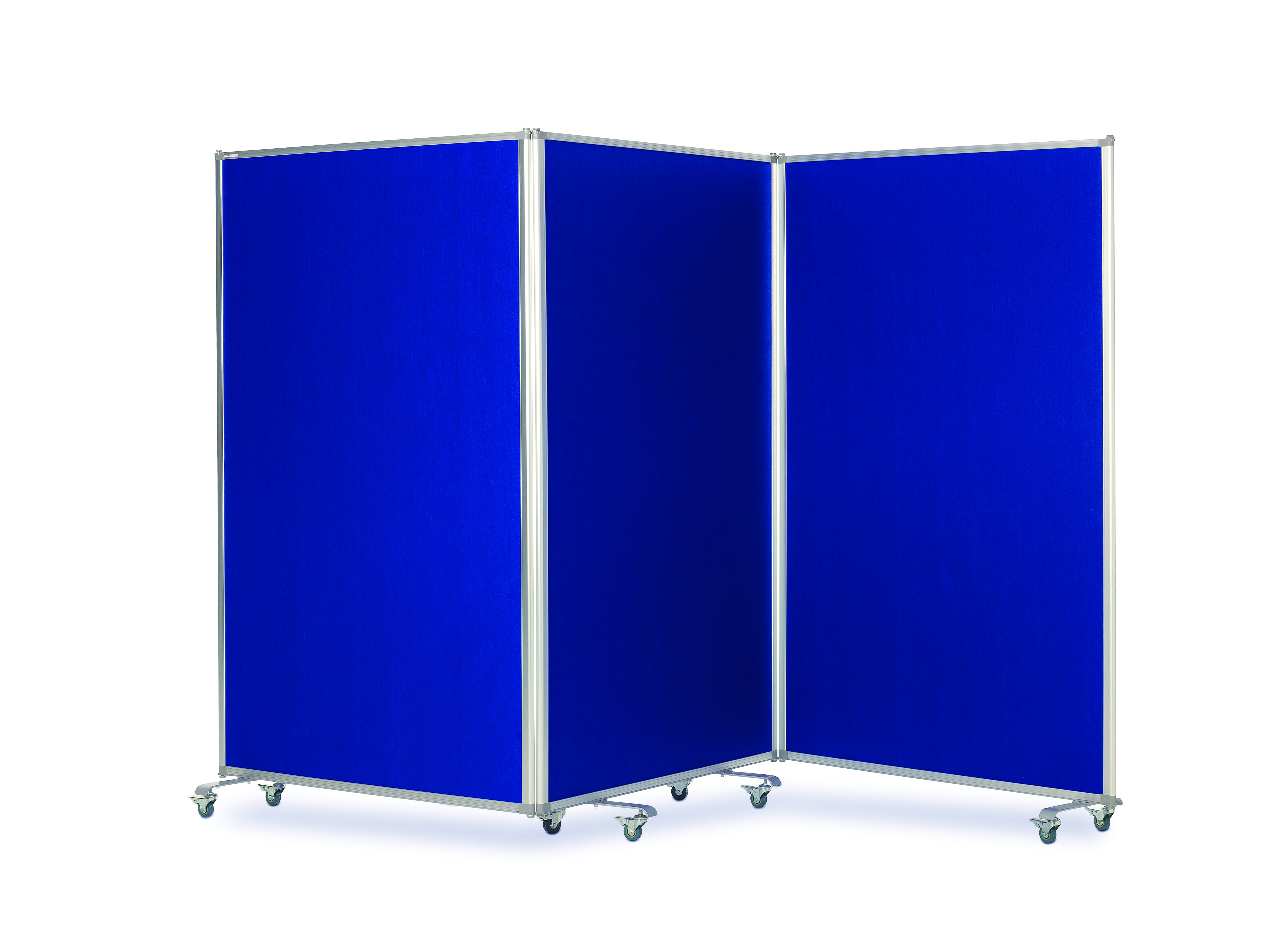Tri Screen Mobile Partitions and Display