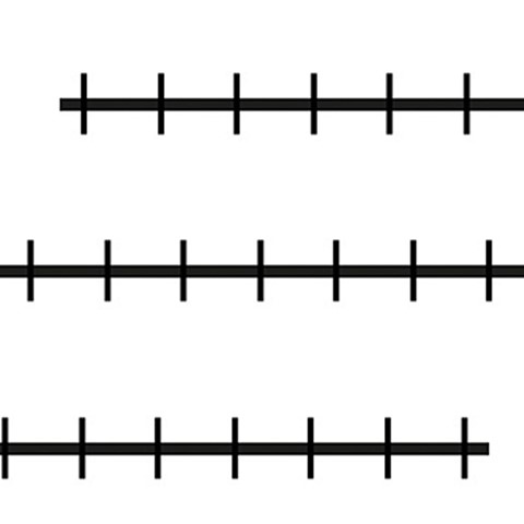 Magnetic Number Line Blank