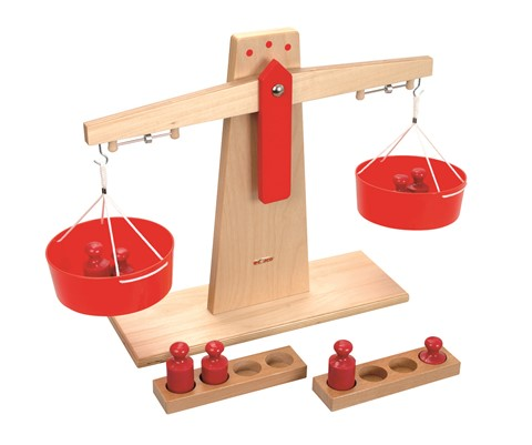 Wooden Scales & Plastic Weights