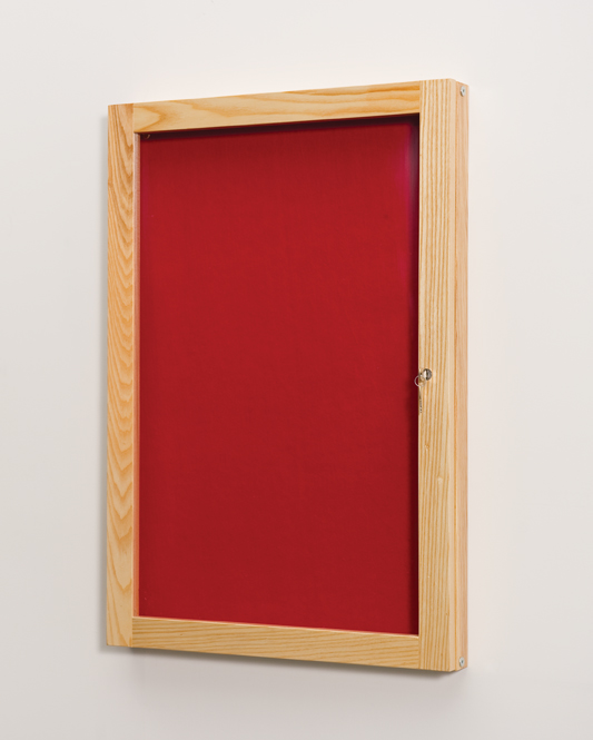Wood Framed Decorative Tamperproof Noticeboard (Single Door)