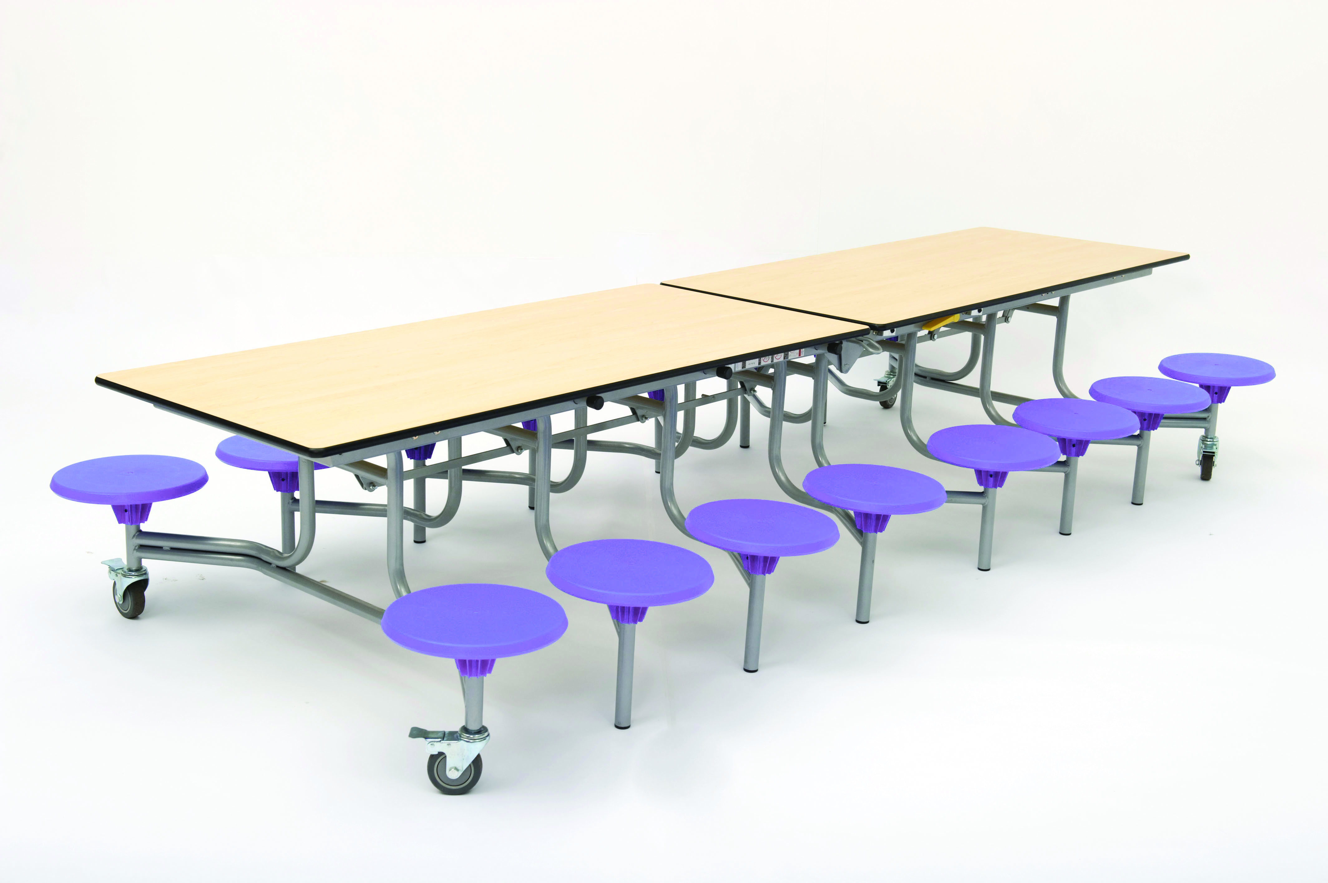 Rectangular Mobile Folding Table with 16 Seats