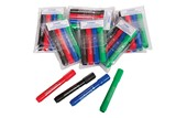 Dry Wipe Pens (Pack of four assorted colours)