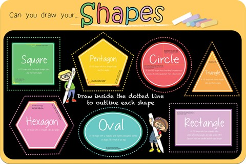 Shapes Chalkboard
