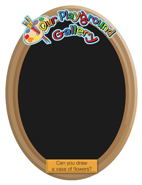 Our Gallery - Vase Chalkboard