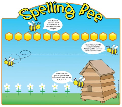 Spelling Bee Magnetic Game