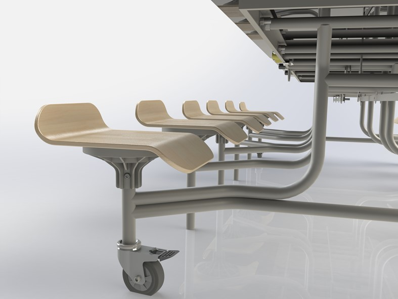 Primo Contemporary Mobile Folding Tables