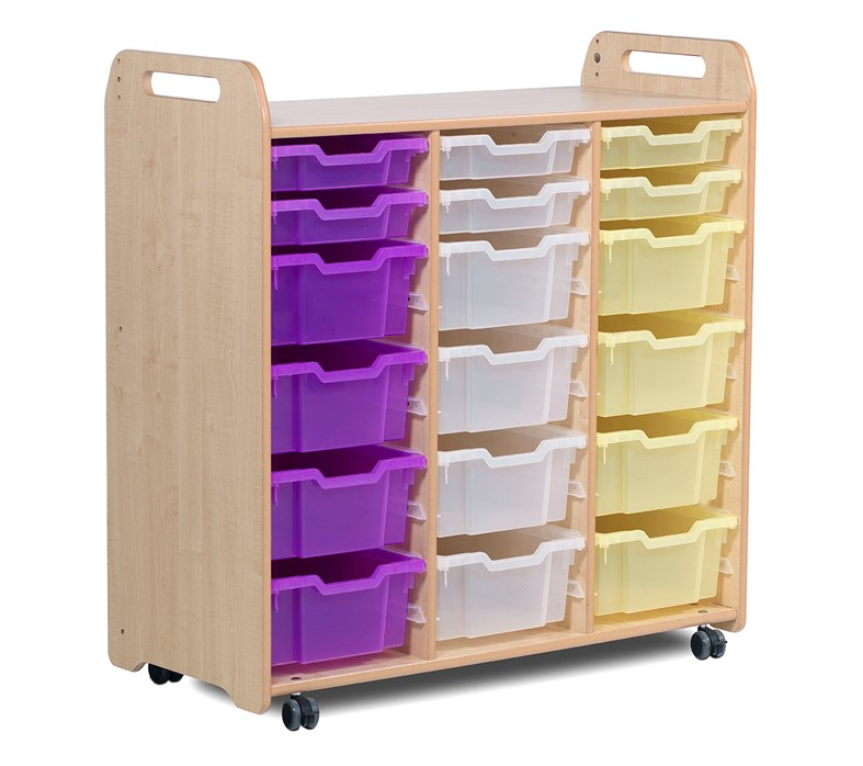 PlayScapes Tray Storage Unit (3 column) (1080mm height)
