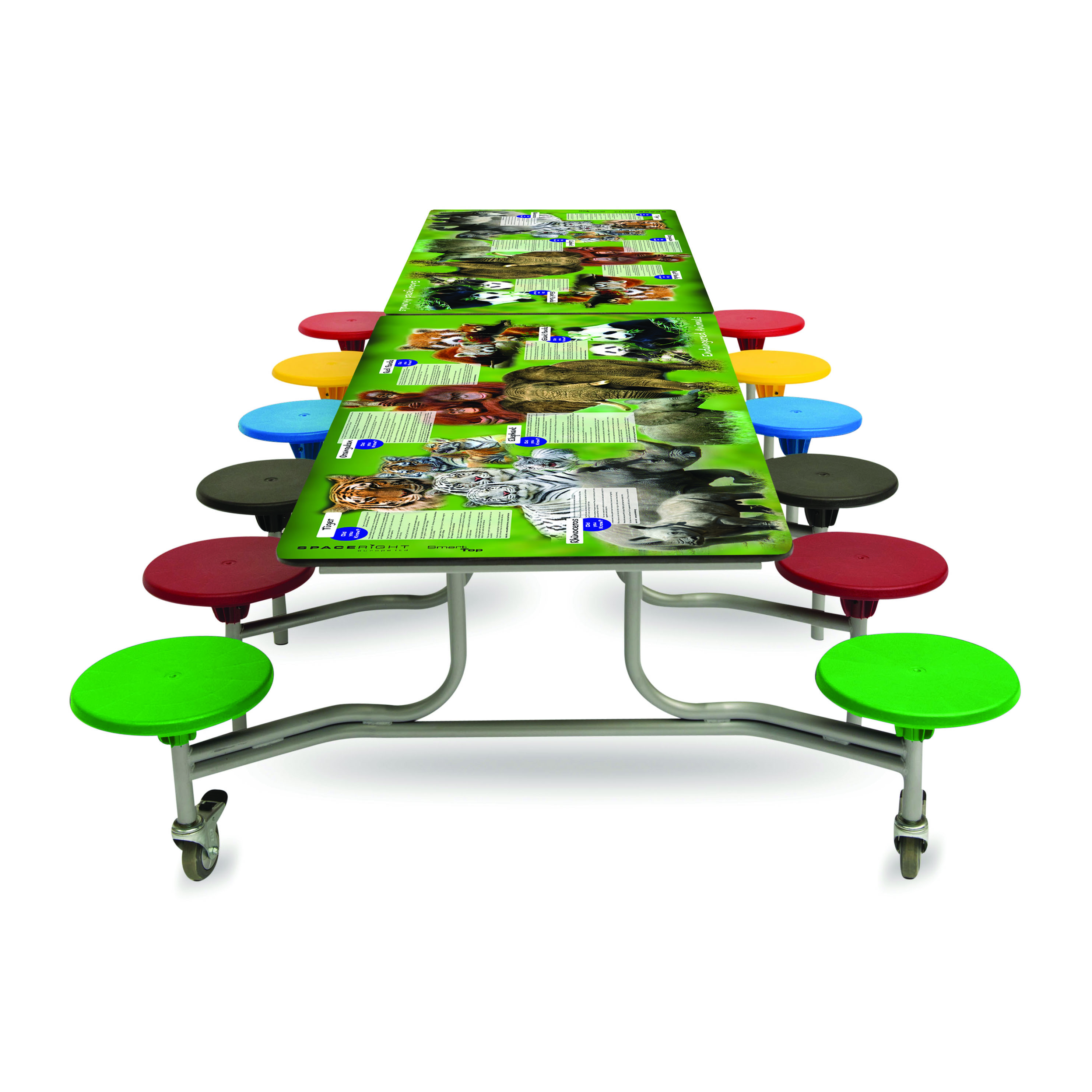 Endangered Animals Smart Top Rectangular Table (12 Seat Unit)