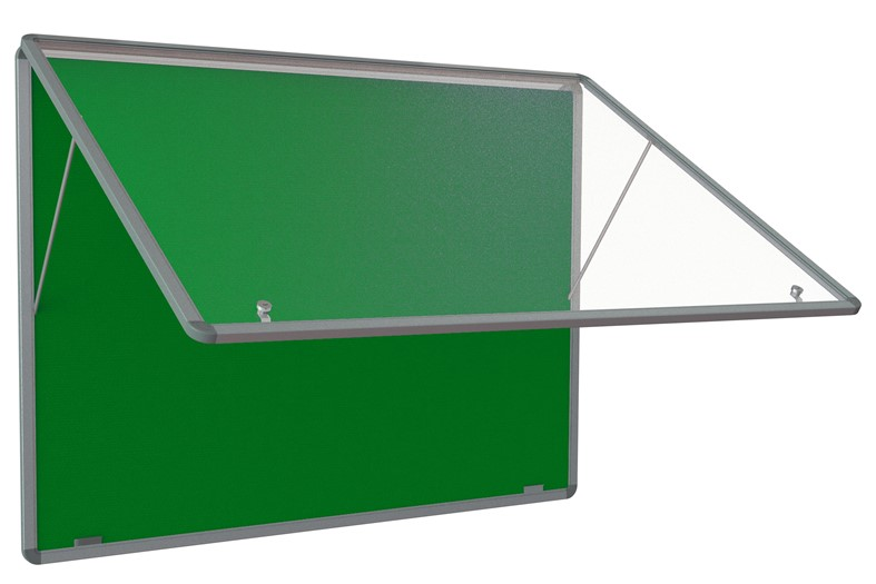 FlameShield Tamperproof Noticeboard Top Hinged