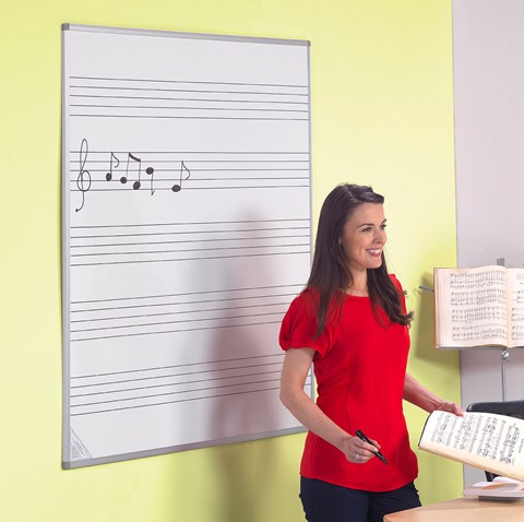 Non-Magnetic Music Stave Writing Board