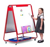 Little Rainbows Magnetic Display/Storage Easel Double Sided