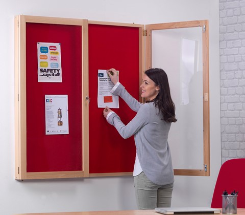 Solid Wood Tamperproof Noticeboard
