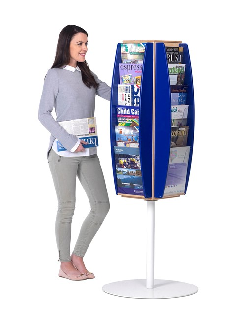 Eco-Friendly Rotating Leaflet Dispenser