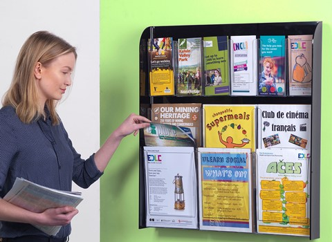 Wall Mounted Crystal Clear Leaflet Dispensers