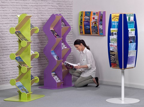 Freestanding Book/Brochure Dispensers - Zig Zag
