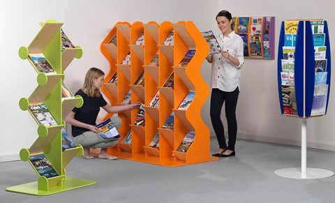 Freestanding Wave Book / Brochure Dispenser