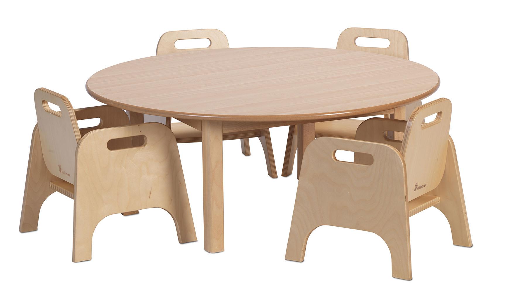 Circular Table U0026 4 Sturdy Chairs