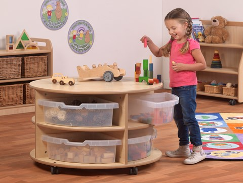 Double Tier Mobile Circular Storage Unit