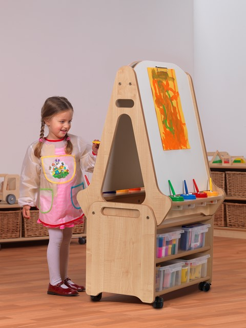 Easel and Stand Trolley Set