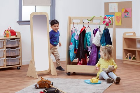 Basic Dressing Up Trolley and Free Standing Mirror Set
