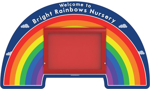 WeatherShield Wall Mounted Rainbow Welcome Sign