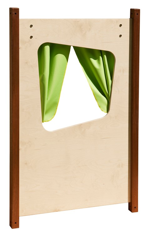 Window Panel with Curtain