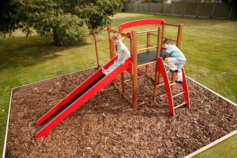 Outdoor Climbing Frame & Monkey Run