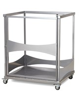 Single Rectangular Fast Fold Table Trolley