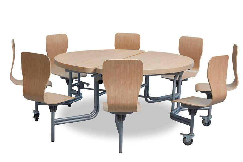 8 Seat Primo Round Mobile Folding Table