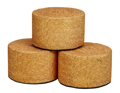 Round Hay Bale Seat (set of 3)