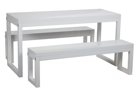 Cube Table and Bench Set